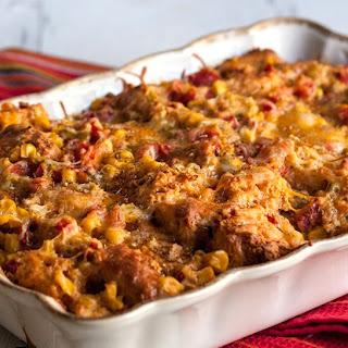 Cheesy Mexican Cornbread Casserole.