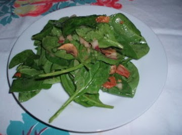 Spinach Bacon Salad With Warm Dressing Recipe