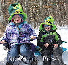 Photo: Brayden Sewall, 6, and Weston Sewall, 3, of Crosslake, both decked out in the St. Patty's Day gear waited patiently for the parade to begin - photo by Donna Evans