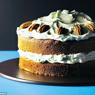 Pumpkin, Brown Sugar And Pecan Cake With Cream Cheese Icing