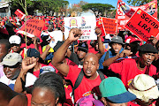 Trade Unions unlikely to  accept finance minister Tito Mboweni's cost-cutting measures. /Gallo Images / Brenton Geach