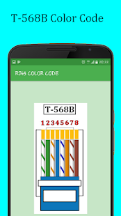 RJ45 Color Code Cable Wiring- screenshot thumbnail