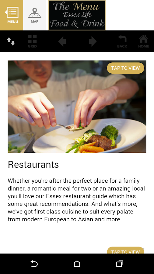 Essex Life - The Menu- screenshot