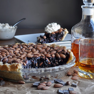 Chocolate Pie with Almonds and Bourbon