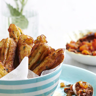 Pommes Dauphine with Tomato Salsa