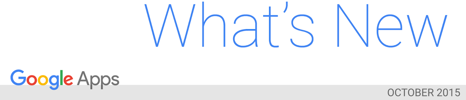 What's New in Apps newsletter header image