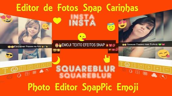 Insta Square Texto Sobre Foto Carinhas e Desfoques Screenshot