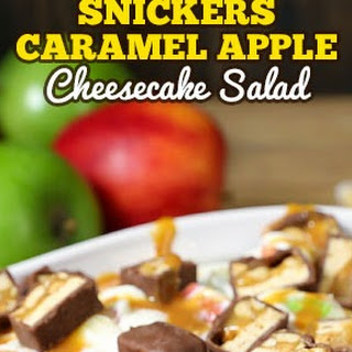 Snickers Caramel Apple Cheesecake Salad.