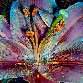 LILY 2 by Cassy 67 - Digital Art Things ( digital, love, harmony, flowers, abstract art, abstract, lilies, creative, flower, digital art, modern, light, lily, style, energy )