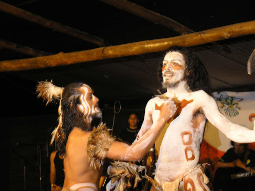 Native performers on Easter Island.