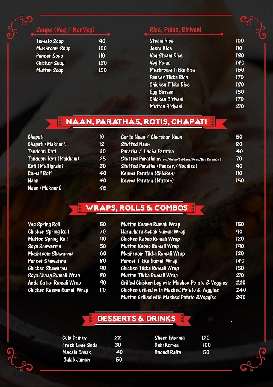 Eagles  menu 4