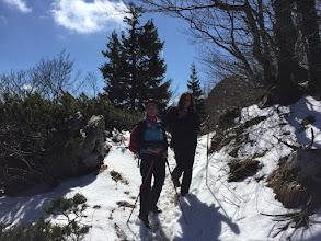 Photo: planinarke na sniježnom Risnjaku
