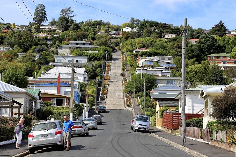 Najbardziej stroma ulica na świecie - Dunedin