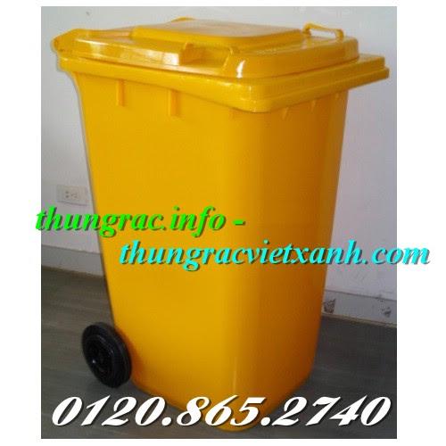 Thùng rác 240l vàng