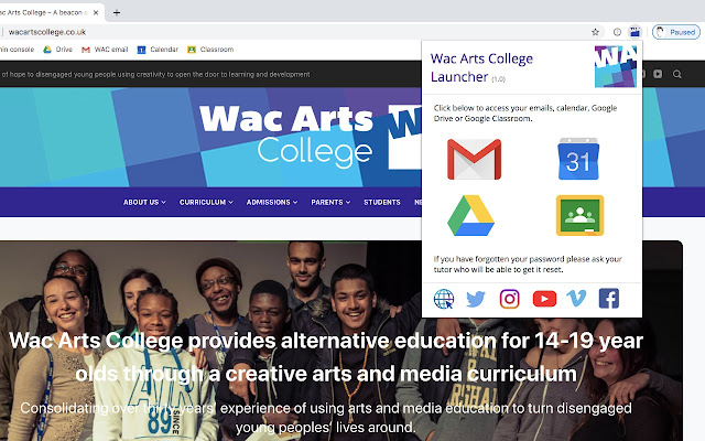 Wac Arts College Launcher