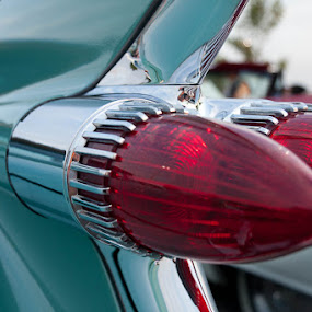 Cadillac Fin by Tanya Witzel - Transportation Automobiles ( canon, tail light, old, caddy, vintage, chevrolet, toronto, chrome, fin, paint, chevy )