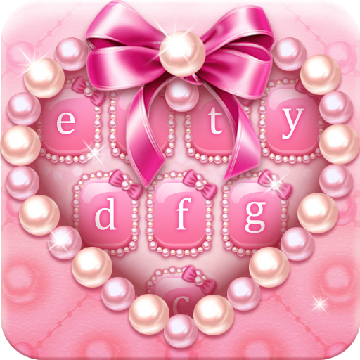 Pink pearl keyboard