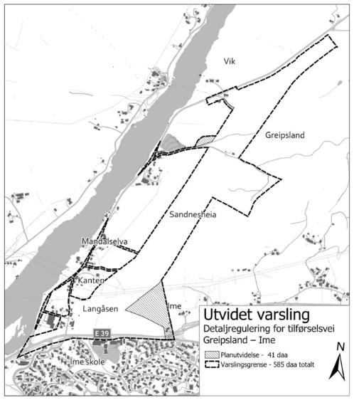 Utvidet plangrense - Greipsland