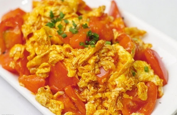 Chinese Stir-fried Eggs With Tomatoes Recipe