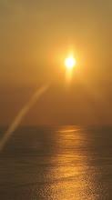 Photo: Atardecerde al vuelo desde el vehiculo en la carretera costanera Ilo - La Punta