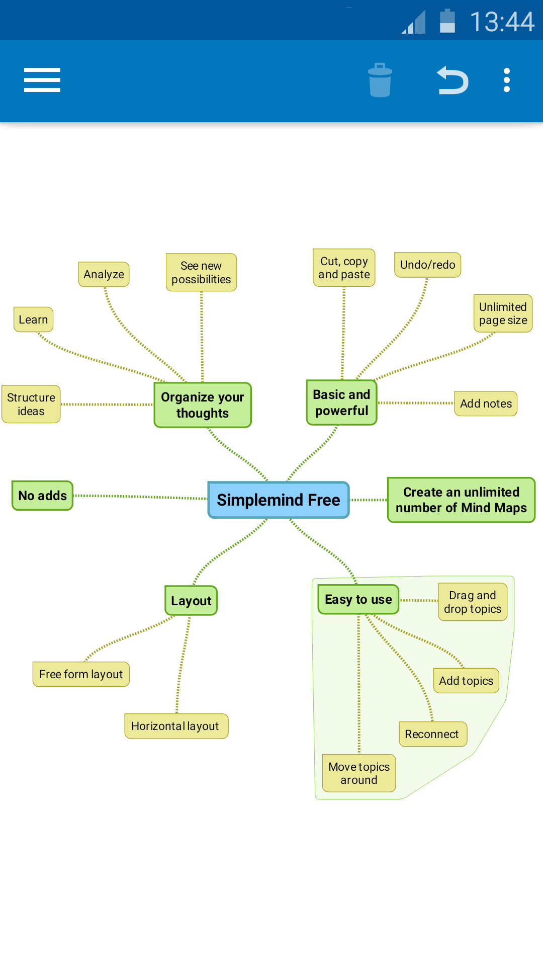 SimpleMind Free mind mapping screenshot #3