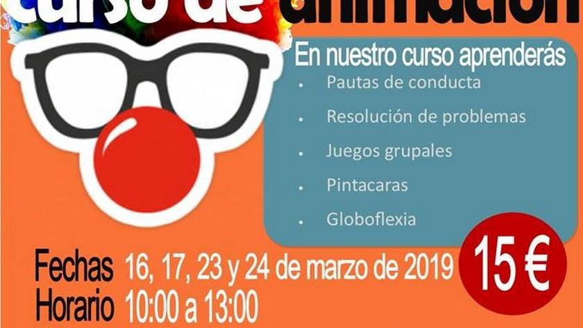 Cartel Curso de Animación de Kids and Big.