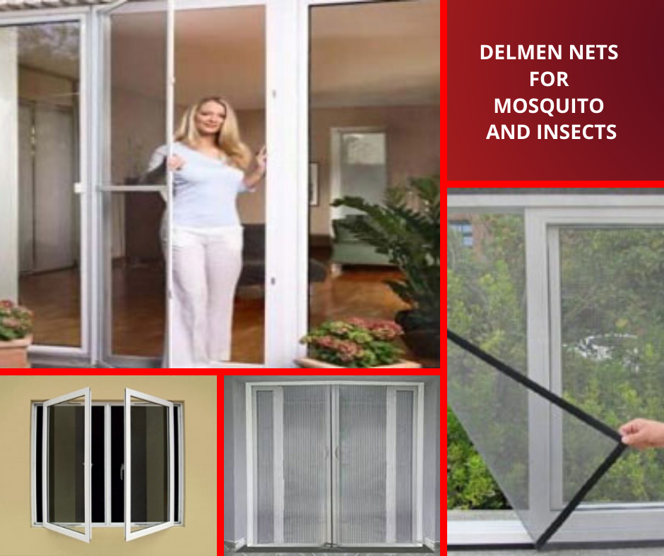 Delmen nets for mosquitoes and insects