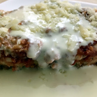 Chicken Parmigiana with White Wine Sauce