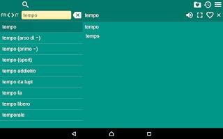 Screenshot of French Italian Dictionary