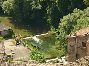 Photo: il campo slalom visto dal Castello