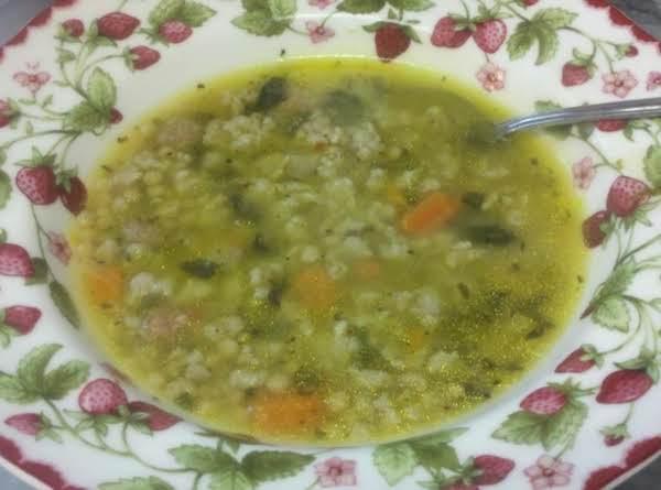 Italian Style Wedding Soup By Susan