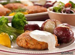 Salmon Croquettes With Cheesy Dill Sauce Recipe