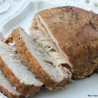 Crockpot Balsamic Pork Loin.