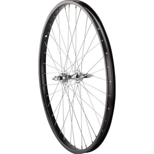 Sta-Tru Rear Wheel 26 inch Black 6/7 Speed Bolt-on Hub, Steel Rim