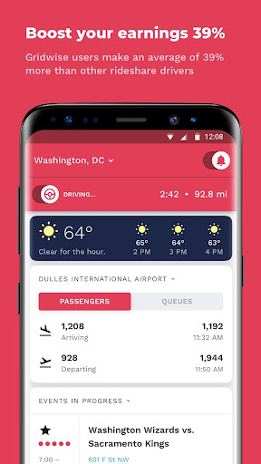 Gridwise -The Assistant for ALL rideshare drivers screenshot