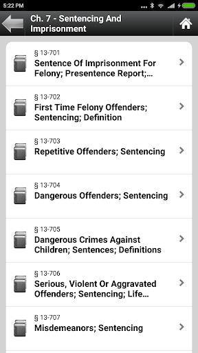 Arizona Statutes, ARS (AZ Law)  screenshots 4