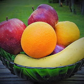 My favorite fruit by Mary Gallo - Food & Drink Fruits & Vegetables ( oranges, fruit, fruit bowl, bananas, apples,  )