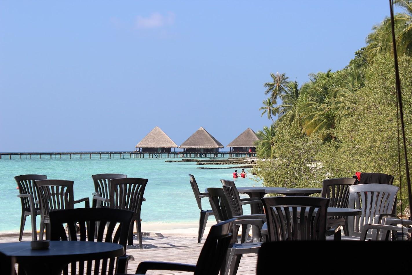 Club Rannalhi Hotel Отель вид на домики на воде