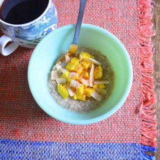 Coconut Quinoa-oat Porridge With Mangoes.