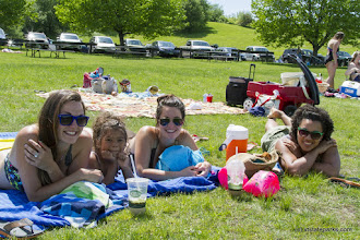 Photo: Girls relaxing at Waterbury Center State Park by Karalyn Mark
