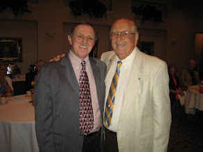 "Photo: Bob Benedict was named Club ""Rotarian of the Year"" by President Dennis Micare on June 10, 2011"