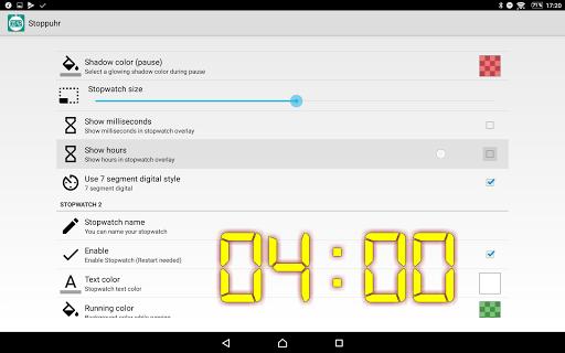 Floating Stopwatch, free multitasking timer 3.2.7 screenshots 8