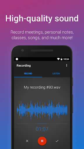 Easy Voice Recorder 2.5.8 gameplay | AndroidFC 2