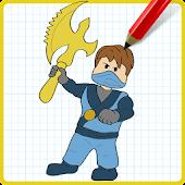 App How to Draw Jay Blue NinjaGo APK for Windows Phone