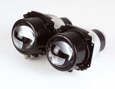 Projektion strålkastare dubbelmontage H3