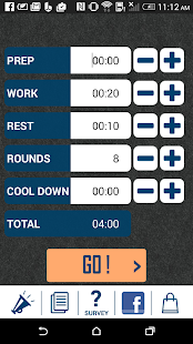 HIIT interval training timer- screenshot thumbnail