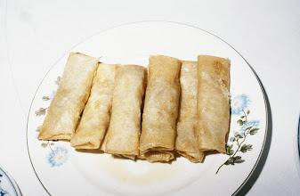 Photo: 11199 南京/双門楼賓館/全鴨席/料理/炸春巻/アヒル肉入りの揚げ春巻