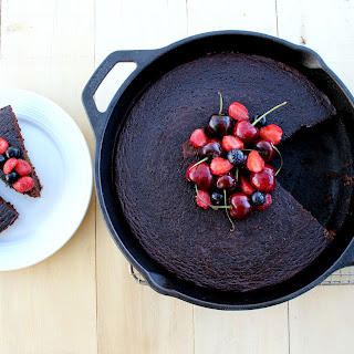 Dark Chocolate Cake (Gluten-Free, Dairy-Free, Oil-Free)