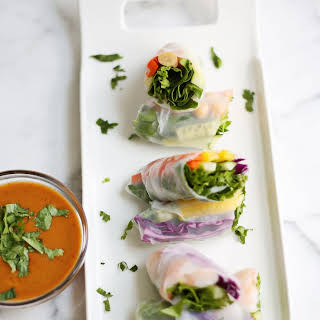 Fresh Spring Rolls + Spicy Peanut Sauce July 29, 2014.
