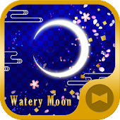 Watery Moon Wallpaper